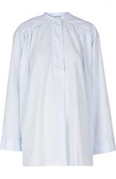 Блуза свободного кроя с широкими рукавами и воротником-стойкой Helmut Lang