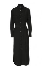 Удлиненное платье-рубашка с накладными карманами Polo Ralph Lauren