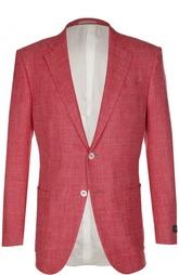Пиджак из смеси шелка с шерстью и льном Ermenegildo Zegna