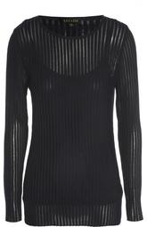 Полупрозрачный пуловер фактурной вязки с круглым вырезом Escada