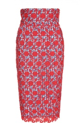 Кружевная юбка-карандаш Stella Jean