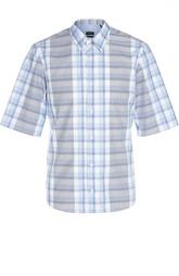 Рубашка в клетку с коротким рукавом Z Zegna