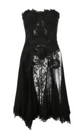 Полупрозрачное кружевное платье-бюстье Dolce & Gabbana