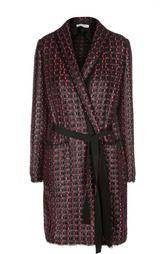 Вязаное пальто с запахом и поясом Sonia Rykiel
