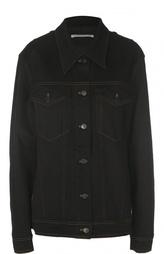 Джинсовая куртка с накладными карманами и кристаллами Alessandra Rich