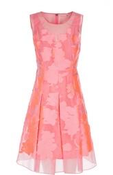 Приталенное платье с цветочной вышивкой и круглым вырезом Elie Tahari