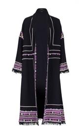 Пальто с контрастной отделкой и бахромой Isabel Marant