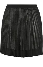 Плиссированная юбка-мини с металлизированной отделкой MRZ