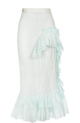 Шелковая юбка с оборками Francesco Scognamiglio