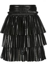 Фактурная мини-юбка с бахромой Maje