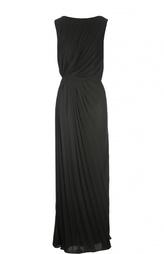 Плиссированное платье в пол с открытой спиной Martin Margiela