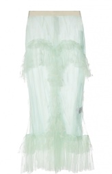 Полупрозрачная кружевная юбка Francesco Scognamiglio