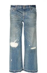 Широкие брюки с потертостями и необработанным краем Simon Miller