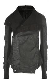Джинсовая куртка асимметричного кроя DRKSHDW