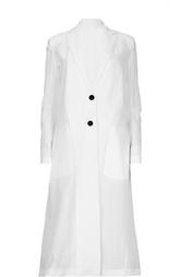 Удлиненное полупрозрачное пальто с накладными карманами Damir Doma