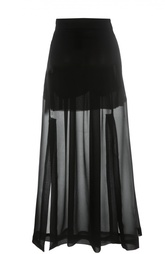 Полупрозрачная шелковая юбка с разрезами Isabel Benenato