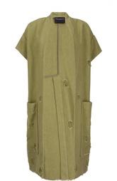Пальто с потертостями и глубокими накладными карманами Erika Cavallini