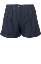 Мини-шорты с защипами и отворотами Burberry Brit