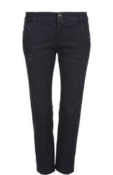Прямые брюки с потертостями и декоративной отделкой Dsquared2