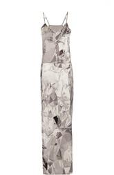 Платье-комбинация макси с принтом Ilaria Nistri