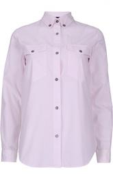 Прямая блуза с накладными карманами и воротником botton-down Isabel Marant