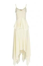 Приталенное платье асимметричного кроя на бретельках Derek Lam