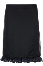 Шелковая юбка-миди с оборками Aquilano Rimondi