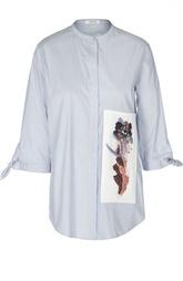 Удлиненная блуза с вышивкой и воротником-стойкой Schumacher