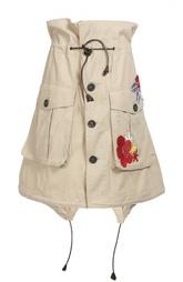 Мини-юбка с накладными карманами и вышивкой Dsquared2