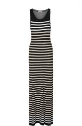 Платье-макси в полоску с круглым вырезом MRZ