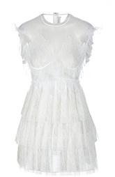Кружевное полупрозрачное мини-платье Francesco Scognamiglio