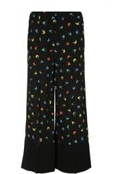 Широкие прямые брюки с принтом Sonia Rykiel
