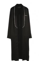 Удлиненное пальто с контрастной отделкой Haider Ackermann