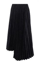 Асимметричная плиссированная юбка с металлизированной отделкой Yohji Yamamoto