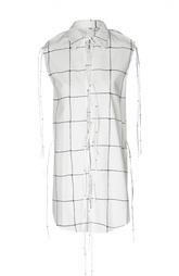 Блуза без рукавов в клетку на шнуровке Damir Doma