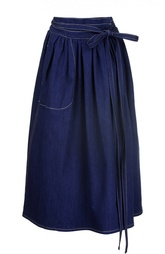 Джинсовая юбка с бантом и контрастной прострочкой Marc Jacobs