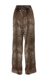 Шелковые брюки в пижамном стиле Dolce & Gabbana