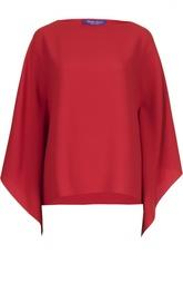 Блуза с широкими рукавами и вырезом-лодочка Ralph Lauren