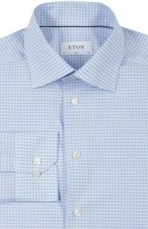Хлопковая приталенная сорочка в клетку Eton