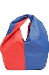 Кожаная двухцветная сумка J.W. Anderson