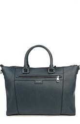 Кожаная сумка с одним отделением на молнии Dolce & Gabbana