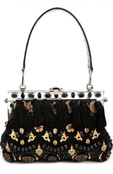 Сумка с застежкой фермуар и декором Dolce & Gabbana