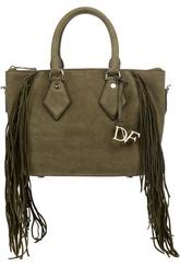 Кожаная сумка с бахромой Diane Von Furstenberg