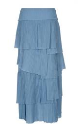Многоярусная плиссированная юбка Sonia Rykiel