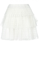 Многоярусная кружевная мини-юбка Giamba