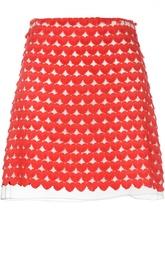 Юбка А-силуэта с контрастной вышивкой Giamba