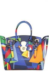 Кожаная сумка с принтом Ralph Lauren