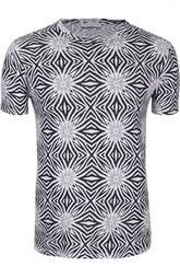 Льняная футболка с геометрическим принтом Daniele Fiesoli