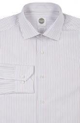 Приталенная хлопковая сорочка в полоску Bagutta