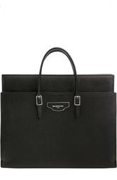 Кожаная сумка с внешними карманами Balenciaga